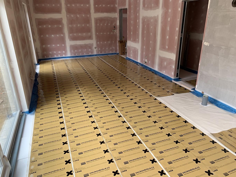 LARX uhlíkovéfólie, topná fólie, podlahové vytápění, elektrické podlahové topení