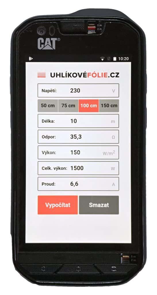 Kalkulačka UHLÍKOVÉFÓLIE.cz
