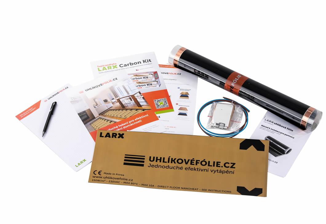 podlahové topení, larx demobalíček, uhlíkovéfólie.cz, uhlíkové topné fólie, elektrické podlahové topení
